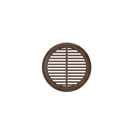Removable round overflow grill  set of 4 pc brown