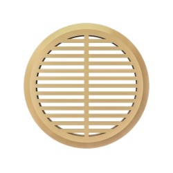 Removable round overflow grill  set of 4 pc beige