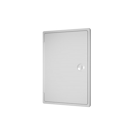 Revision hatching door with bolt handle 300kh300, plated mounting